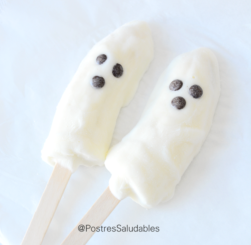 Postres Saludables Halloween Saludable: Banafantasmas