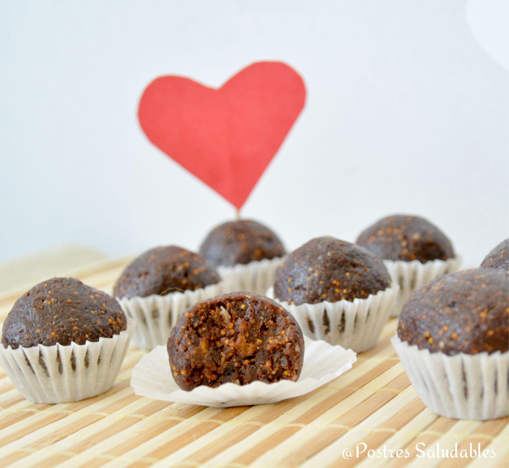 bombones de higo y chocolate sin azúcar