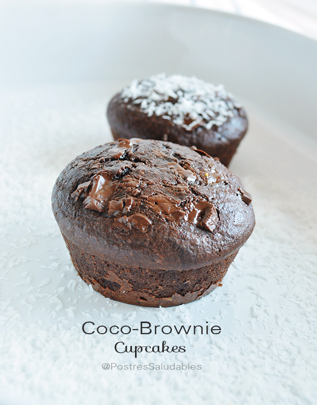 cocobrownie cupcake saludable