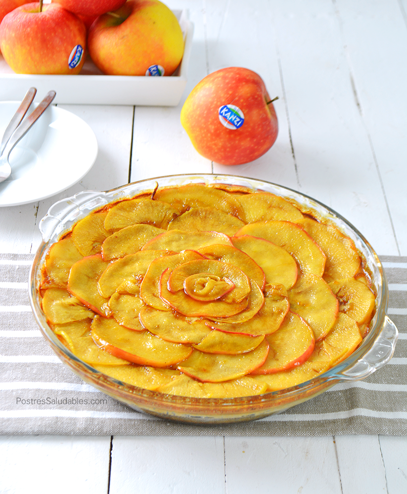 cheesecake de manzana saludable