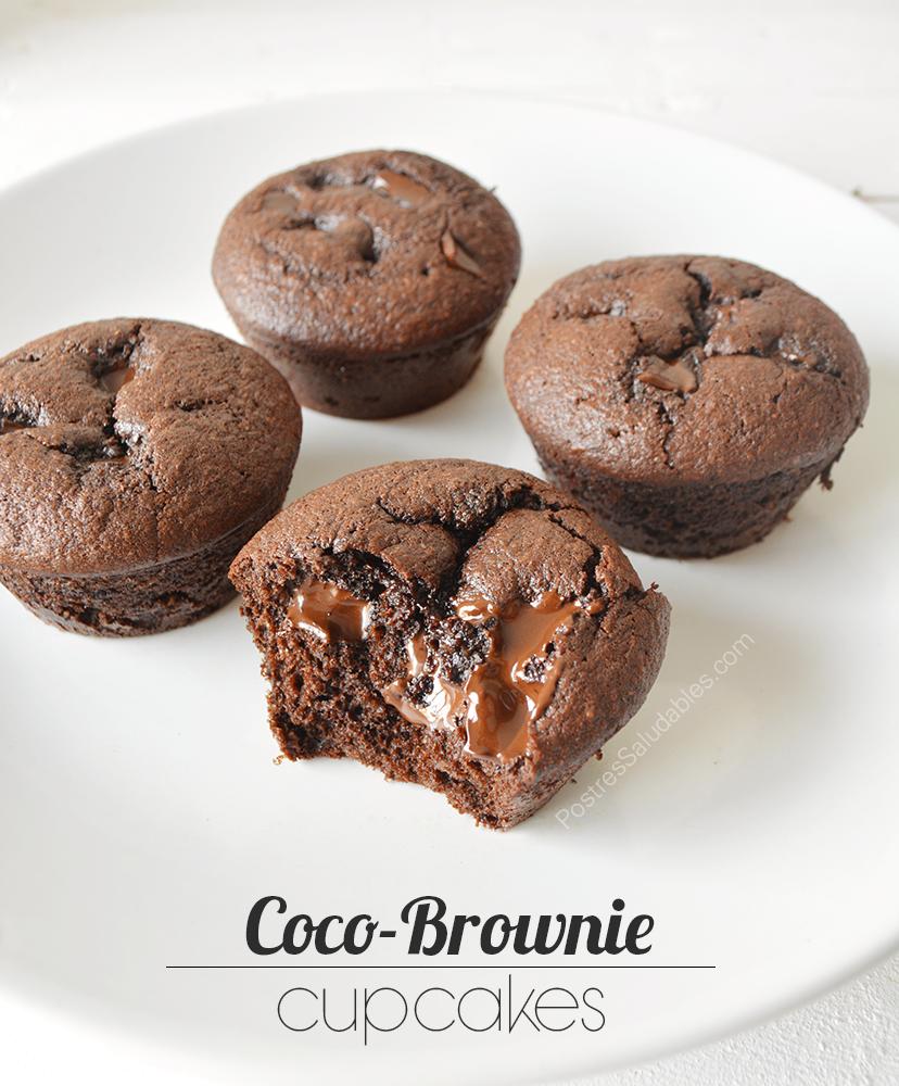 Brownie cupcakes saludables