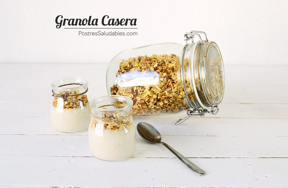 Granola casera y sin azúcar
